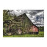 Nubes pesadas Vid-Cubiertas viejas rurales del gra Lona Estirada Galerias