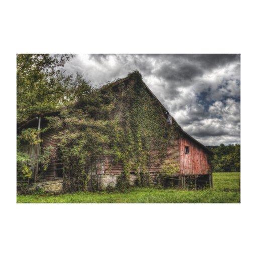 Nubes pesadas Vid-Cubiertas viejas rurales del gra Lona Envuelta Para Galerías