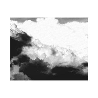 Nubes por todas partes lienzo envuelto para galerias
