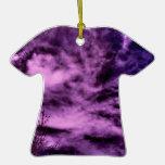 nubes púrpuras adorno para reyes