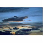 Nubes que flotan en el cielo escultura fotografica