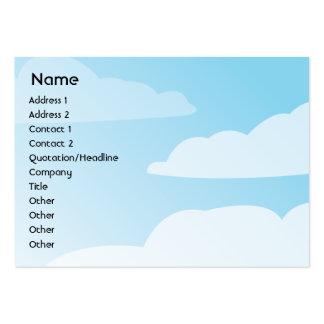 Nubes - rechonchas plantilla de tarjeta personal