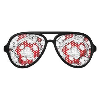 Nubes rojas de la lucha del estilo cómico gafas de fiesta