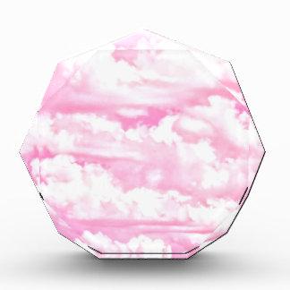 Nubes rosadas fucsias felices dulces