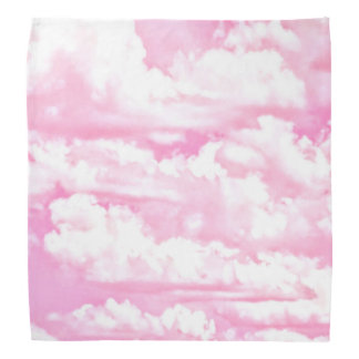 Nubes rosadas fucsias felices dulces bandana