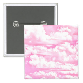 Nubes rosadas fucsias felices dulces pin cuadrado