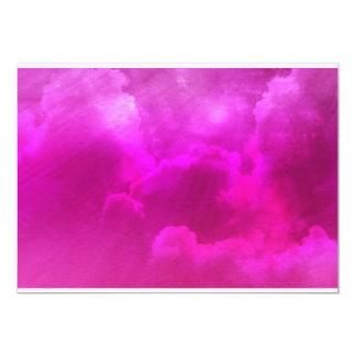 """Nubes rosadas vibrantes invitación 5"""" x 7"""""""