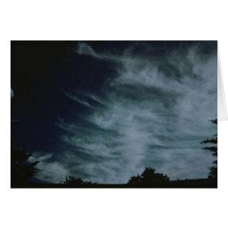 Nubes simples tarjeta de felicitación