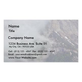 Nubes sobre el glaciar plantillas de tarjeta de negocio