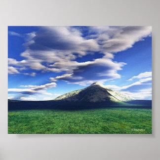 Nubes sobre la colina poster
