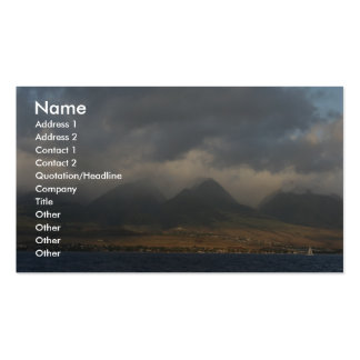 Nubes sobre Maui Plantilla De Tarjeta Personal