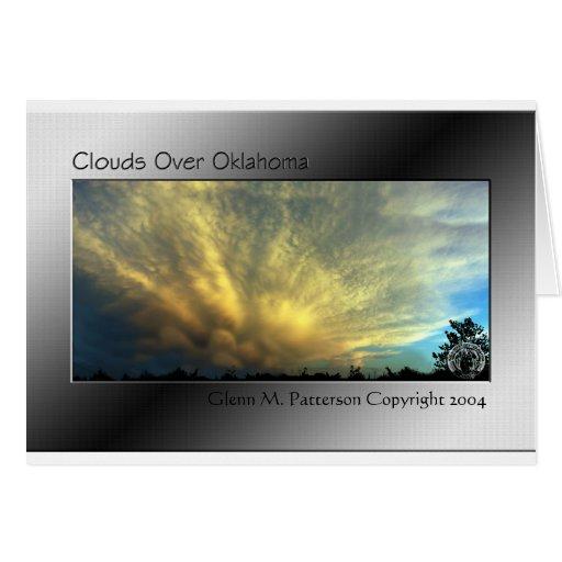 Nubes sobre Oklahoma Tarjeta De Felicitación