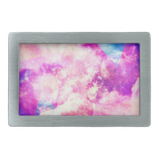 Nubes soñadoras de la nebulosa púrpura azul rosada hebillas de cinturon rectangulares