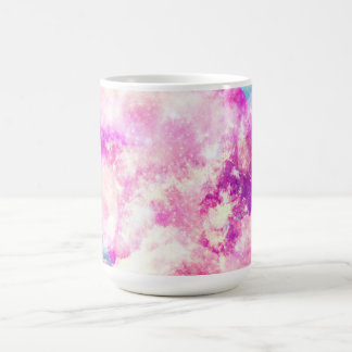Nubes soñadoras de la nebulosa púrpura azul rosada tazas de café