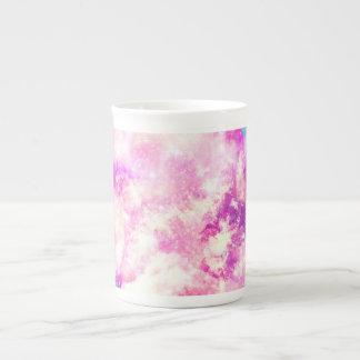 Nubes soñadoras de la nebulosa púrpura azul rosada tazas de china