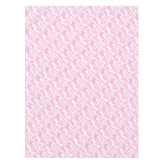 Nubes suaves elegantes decorativas del rosa del mantel de tela