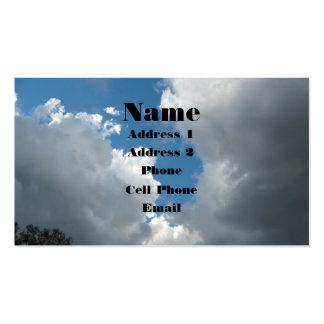 Nubes Plantillas De Tarjeta De Negocio