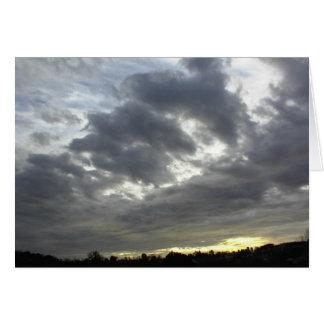 Nubes Tarjeta-Oscuras de la escritura, 36:5 del sa Tarjeta De Felicitación