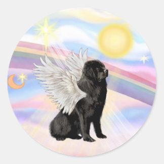 Nubes - Terranova (#1) ángel Pegatina Redonda