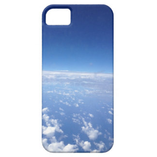 Nubes y caja del teléfono celular del cielo funda para iPhone 5 barely there