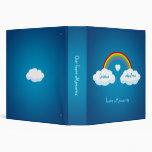 Nubes y carpeta del amor del arco iris