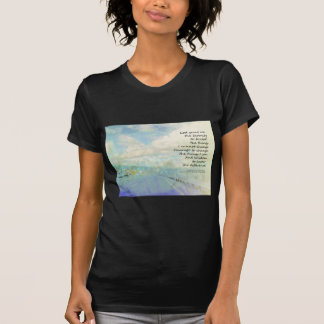 Nubes y carretera del rezo de la serenidad camisetas