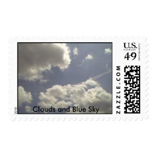 Nubes y cielo azul sellos