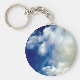 Nubes y cielo blancos llaveros personalizados