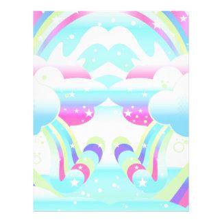 """nubes y cielo II del arco iris Folleto 8.5"""" X 11"""""""