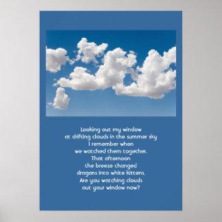 Nubes y cielo poster