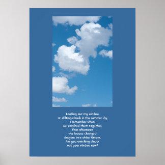 Nubes y cielo posters