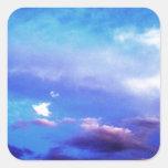 Nubes y cielo pegatinas cuadradases