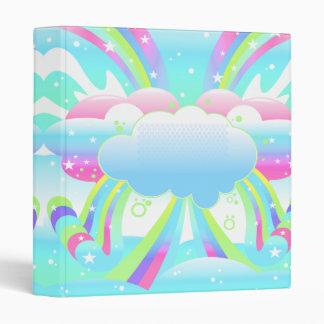 nubes y cuaderno del pastel del cielo del arco iri
