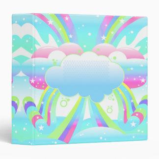 """nubes y cuaderno del pastel del cielo del arco iri carpeta 1 1/2"""""""
