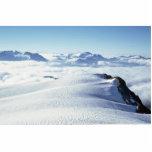Nubes y nieve esculturas fotográficas