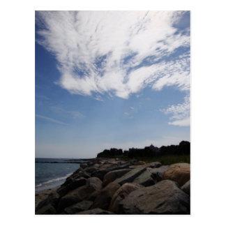 Nubes y rocas, Cape Cod Tarjetas Postales