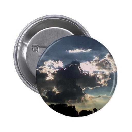 Nubes y Sun Pin Redondo 5 Cm
