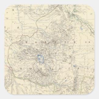 Nubia, Abyssinia Calcomania Cuadradas Personalizadas