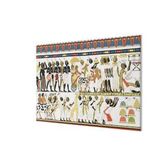 Nubian chiefs bringing presents gallery wrap canvas