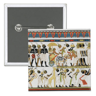 Nubian chiefs bringing presents pinback button