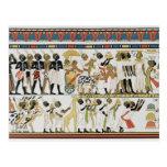 Nubian chiefs bringing presents postcard