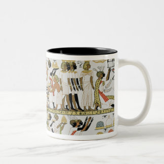 Nubian chiefs bringing presents Two-Tone coffee mug