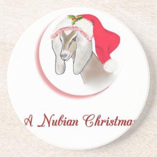 Nubian Christmas Goat Sandstone Coaster