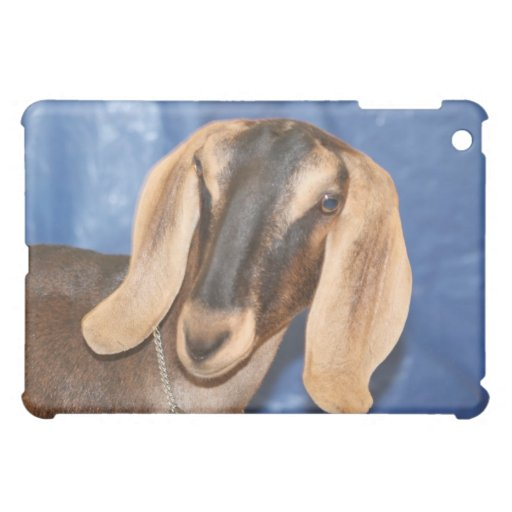 Nubian doe head against blue iPad mini covers