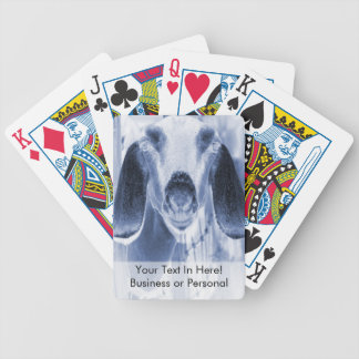 Nubian doe head on invert bicycle playing cards