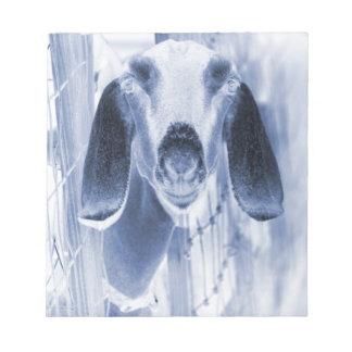 Nubian doe head on invert notepad