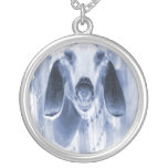 Nubian doe head on invert pendants