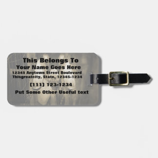 Nubian doe sepia head on getting out of gate travel bag tags