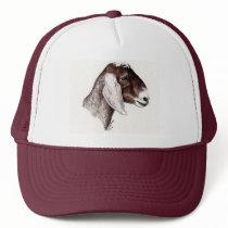 """Nubian Goat"" Animal Art Hat"