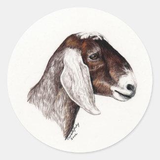 Nubian Goat Art Sticker